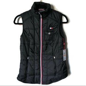 Tommy Hilfiger Black Puffer Zip front vest. NWT!!